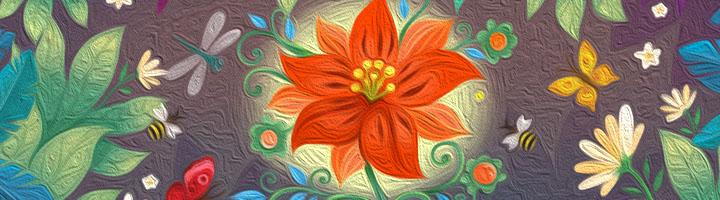 …и цветочек Оленькин!